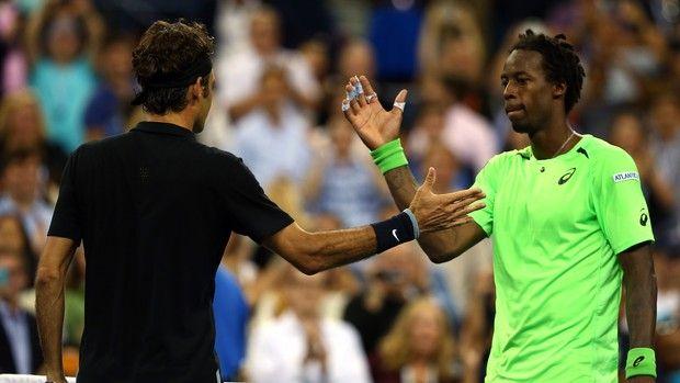 Roger Federer x Gael Monfils, US Open (Foto: Getty)