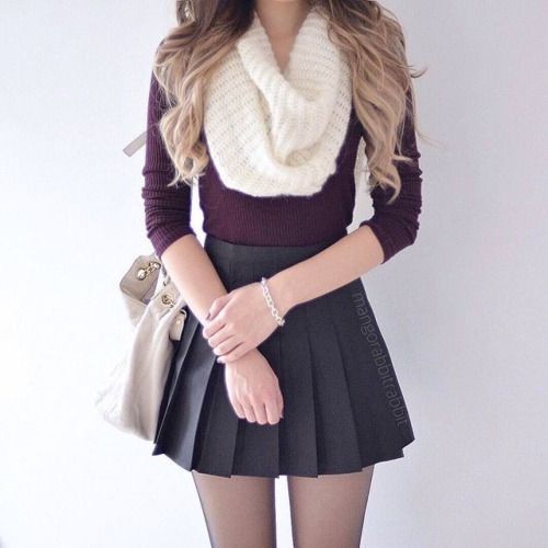 autumnal fashion and omgggg thigh gappp #tumblrstyle #teenage