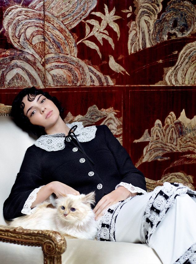 Kendall Jenner with Choupette by Karl Lagerfeld for Vogue US September 2015 - CHANEL Fall 2015.......GREAT EDITORIAL!