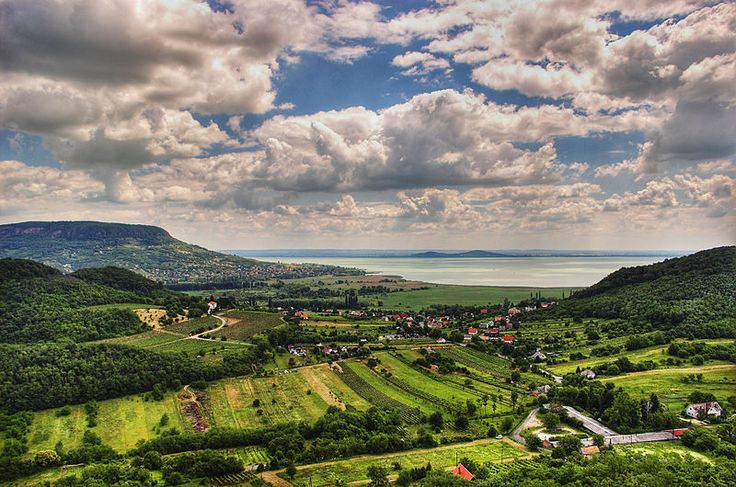 Lake Balaton from afar