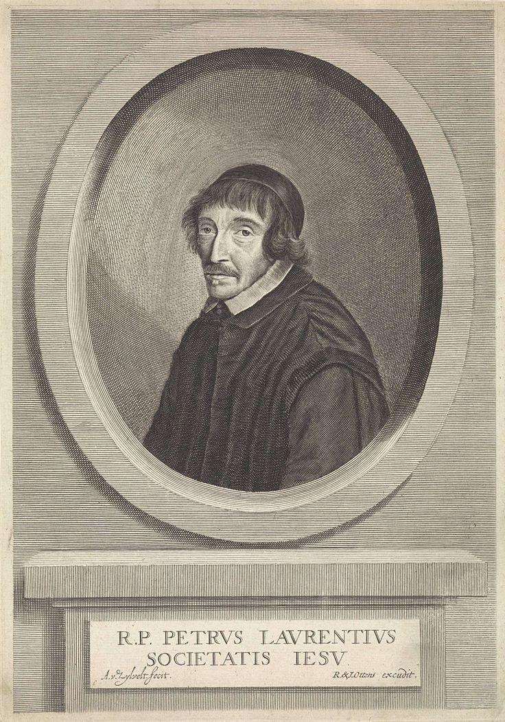 Anthony van Zijlvelt | Portret van Petrus Laurentius, Anthony van Zijlvelt, Reinier & Josua Ottens, 1650 - 1695 | Portret van de jezuïet Petrus Luarentius uit Amsterdam.