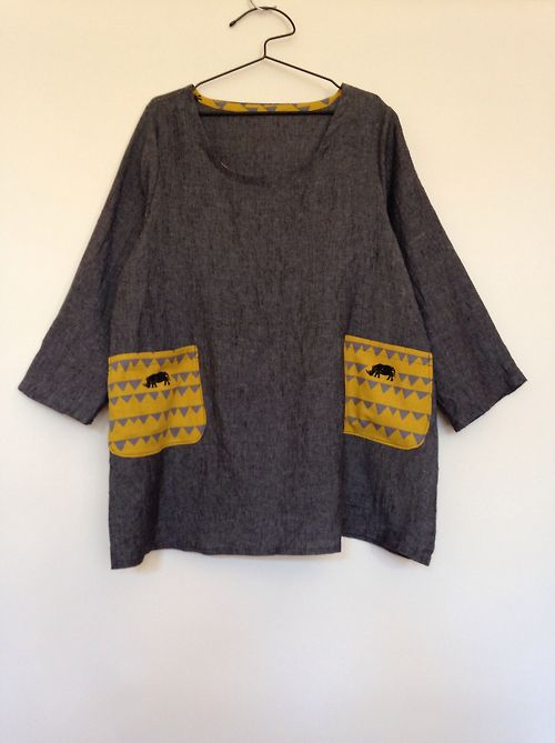 Dress no. 2 in a tunic length - 100 Acts of Sewing