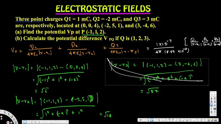 Calculate the potential difference V PQ - Electrostatic Fields - Electro...