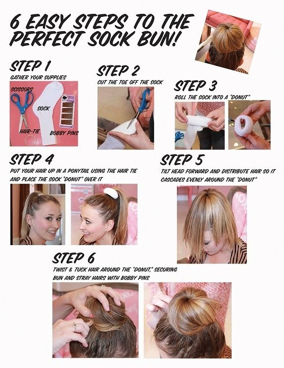 Sock Bun / 22 No-Heat Styles That Will Save Your Hair (via BuzzFeed)