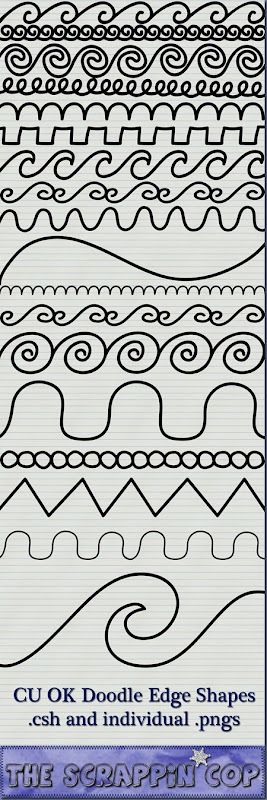 "I just like the doodles. Someone else said ""Cute download for newsletters and notes!"""