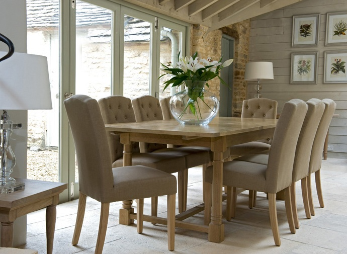 Solid Oak and Painted Dining Room Furniture by Neptune