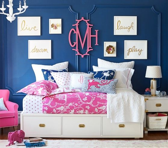 Navy Blue Kids Rooms: Love The Navy, Hot Pink And White Together With The