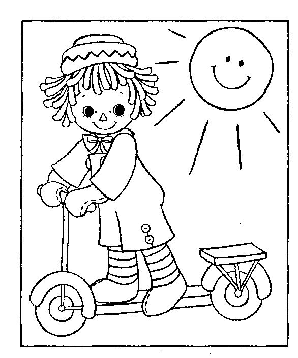 raggedy ann coloring pages - photo#33