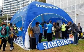 Lions tour branded promotional inflatable marquee for Samsung