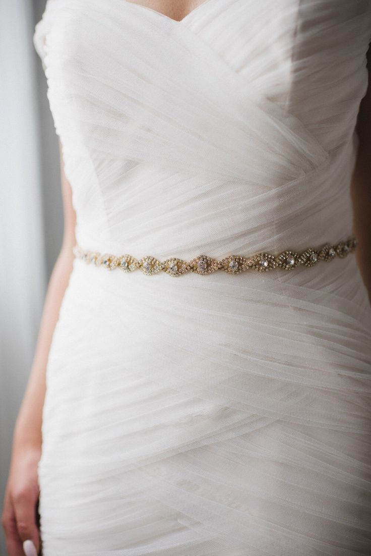 Skinny Gold Crystal Bridal Sash | Thin Gold Rhinestone Wedding Belt | Skinny Gold Bridal Belt Sash | Thin Gold Bridesmaid Belt | THE CHLOE by GlamHerBands on Etsy https://www.etsy.com/ca/listing/277476148/skinny-gold-crystal-bridal-sash-thin