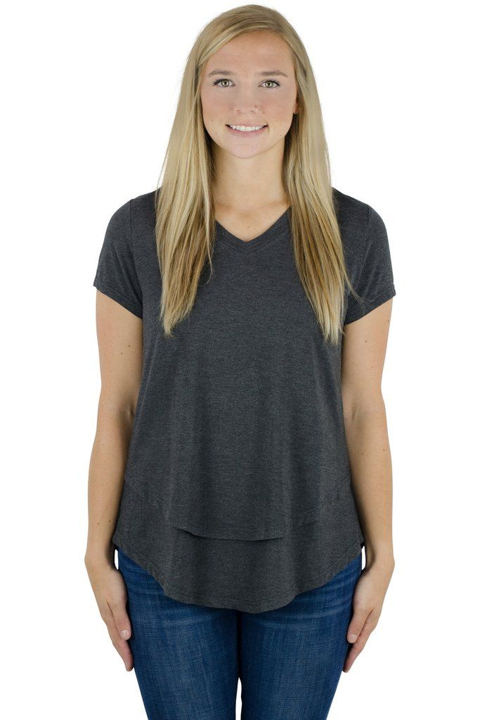 78799d8b30ca Latched Mama V-neck Nursing Tee 2.0