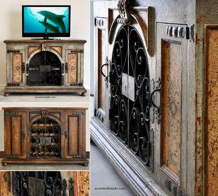 Rustic Furniture For Spanish Hacienda Style Decorating Media Cabinets At Accents Of Salado