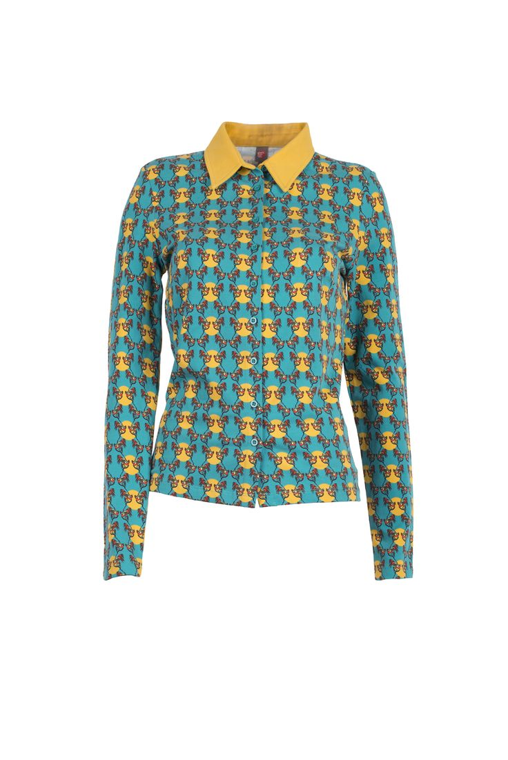 Blouse gaai in Petrol, Who's That Girl AW15 collection