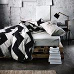Chevron Grande Black Queen bed quilt cover