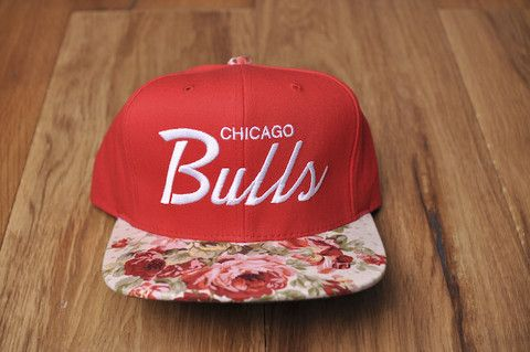 chicago bulls snapback w/ floral bill, MUST HAVE for playoffs :)