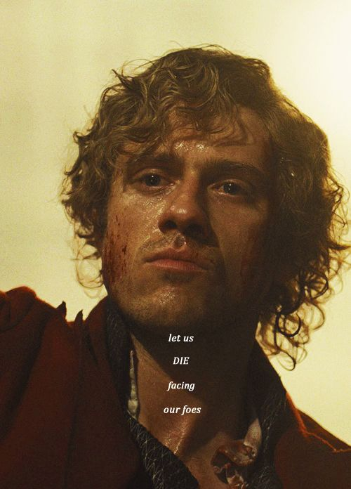 Oh God, his eyes . . . I feel like Aaron Tveit really IS Enjolras right here. I mean, look in his eyes and you can see the dream, the disillusionment, the dull shock of having just seen all his friends killed, and this sort of calm sad wisdom, like he's suddenly an old man. And . . . and . . . and yep, it's a look like he's suddenly resigned to dying . . . :'(