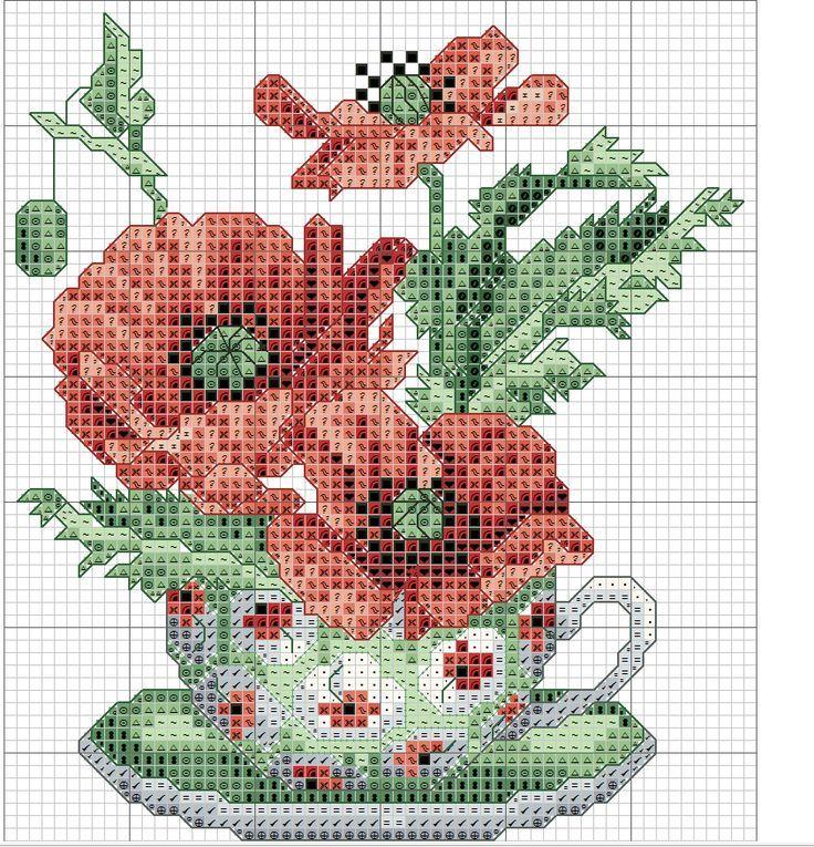 Resultado de imagen para patrones punto de cruz gratis para imprimir