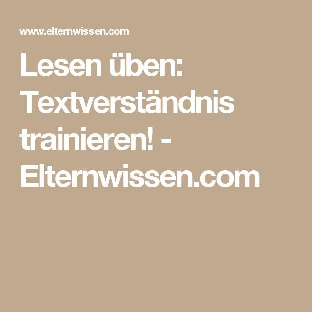 Lesen üben: Textverständnis trainieren! - Elternwissen.com