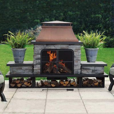Sunjoy Stately Outdoor Fireplace