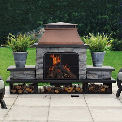 Sunjoy Stately Outdoor Fireplace - 17 Best Images About Outdoor Fireplace On Pinterest Fire Pits