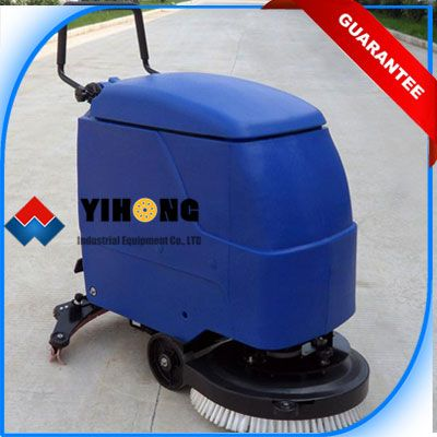 The Hand Push Automatic Floor Scrubber/Drier YHFS-510H is the professional compact unit able to clean in all directions going either forward and backwards, the new deck concept enables the machine to scrub and dry in both directions-forward and backwards.