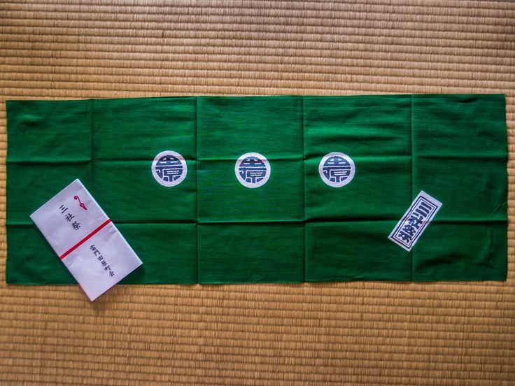 """Asakusa's Sanja Matsuri is organized by the area's various neighborhood  associations aka """"chonaikai"""". This is the official tenugui (hand towel) of our chonaikai, offered to those who contribute to the matsuri. And we were proud to wear it! #Asakusa, #Sanja, #Matsuri, #chonaikai, #tenugui May 13, 2016 © Grigoris A. Miliaresis"""