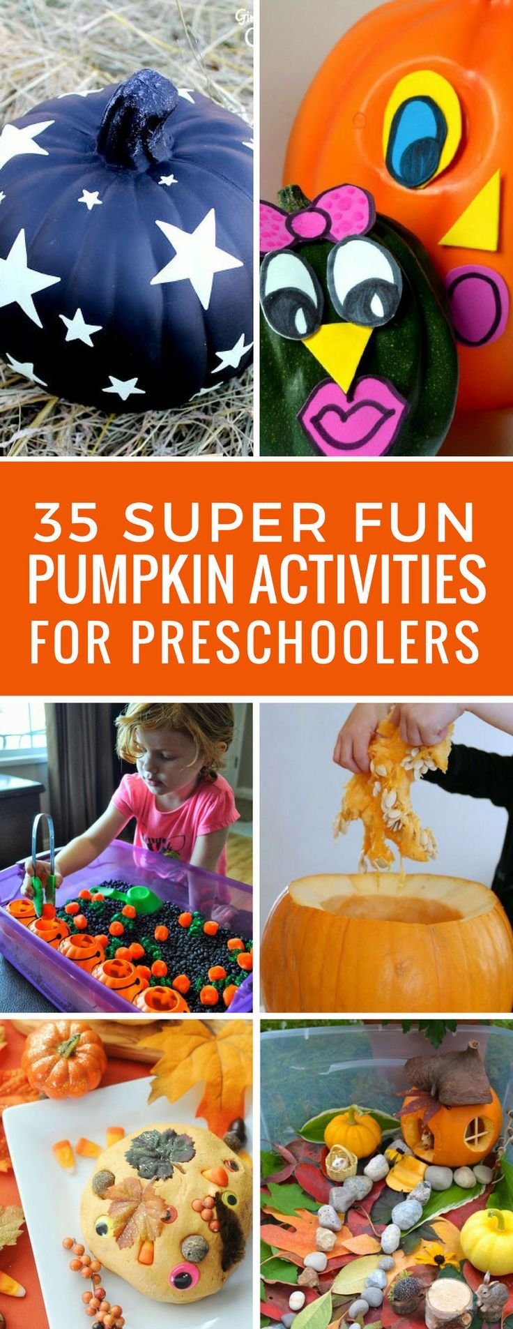 Loving these pumpkin activities for preschoolers -great ideas for learning with pumpkins this fall!