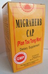 "Pian Tou Tong Wan - Migraherb Cap | Best Chinese Medicines. This is one of the most effective herbal formulas designed to treat migraines and chronic headaches. It is helpful for tension headaches, vascular headaches, cluster headaches, and more. Taken for several months, it can help to keep you migraine- and headache-free. Many people swear by this formula to help them relieve and keep away their chronic migraines. The literal translation of the formula name is ""One-Sided Headache"""