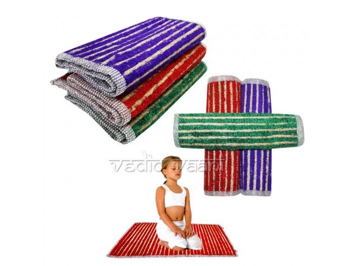 Multi Color Aasan for Kids with Designer Border, vedicvaani.com. Buy Yoga meditation mats Specially design with multi color kusha Mat online in USA. This natural kusha grass mat made for Specialy Meditation and Yoga. Kusha grass is considered highly sacred. Sages often sit on Kusha grass mats when they do their meditation. http://vedicvaani.com/index.php?_route_=Multi-Color-Aasan-Kids-Designer-Border.