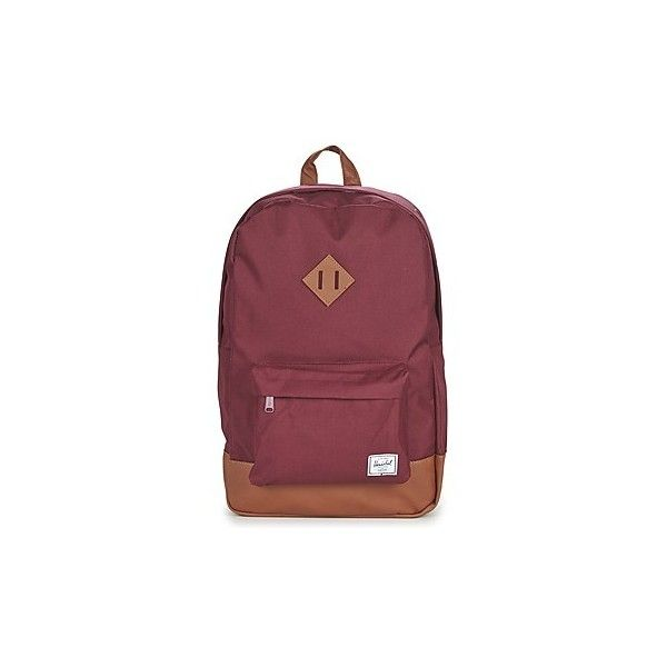 Herschel HERITAGE Backpack (5,115 PHP) ❤ liked on Polyvore featuring bags, backpacks, backpack, bordeaux, red backpack, day pack backpack, herschel rucksack, herschel bags and herschel backpack