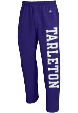 Product: Tarleton State University Texans Open Bottom Sweatpants (black)