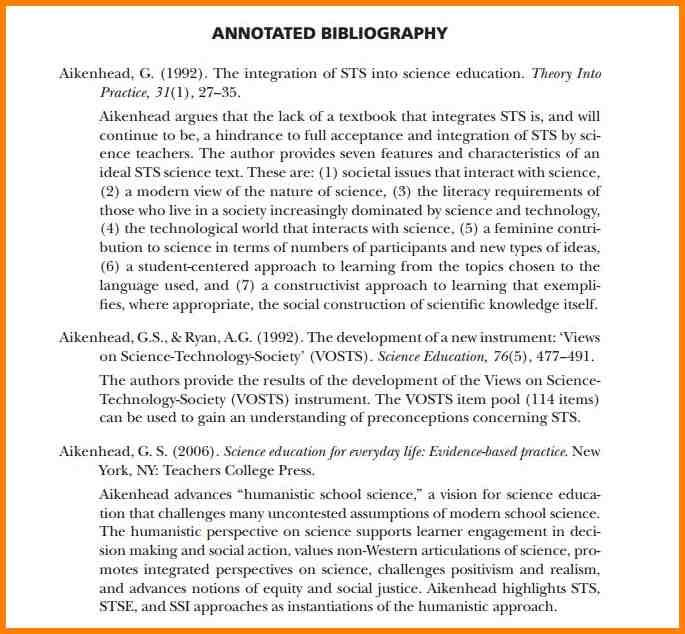 Annotated Bibliography Template Apa Bibliography Template