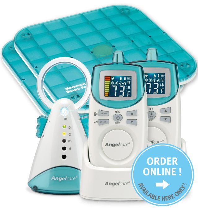 The Sensor Pad monitors even the slightest breathing movements. An alarm will sound if no movement has been detected for 20 seconds. Helps protect against SIDS.