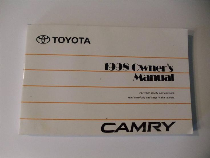 872 best owners manuals images on pinterest book books and owners rh pinterest com 1998 Toyota Camry Le Problems toyota camry 1998 owners manual