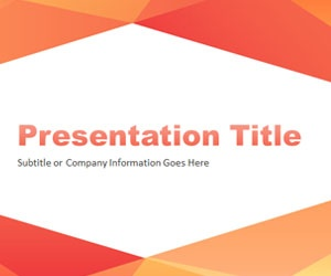 Abstract Angled PowerPoint Template with orange and red colors is another simple PowerPoint background for stunning presentations that you can free download to decorate your slide with original designs