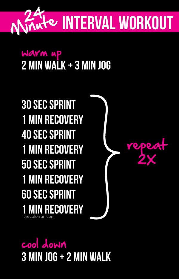24-Minute Interval Workout - The Color Run™