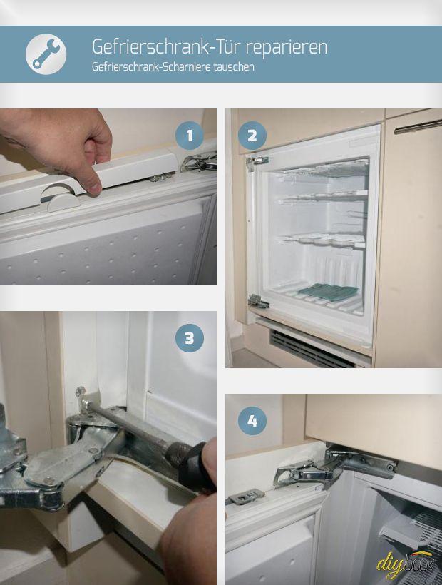 Die Gefrierschrank-Scharniere sind K.O.? Dann ist tauschen angesagt. Der Artikel zeigt, wie sich die Gefrierschrank-Tür reparieren lässt.