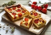 Quiche di formaggi morbidi e pomodorini
