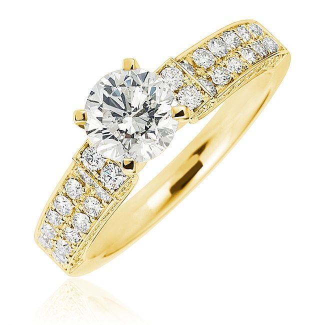 18k curved band