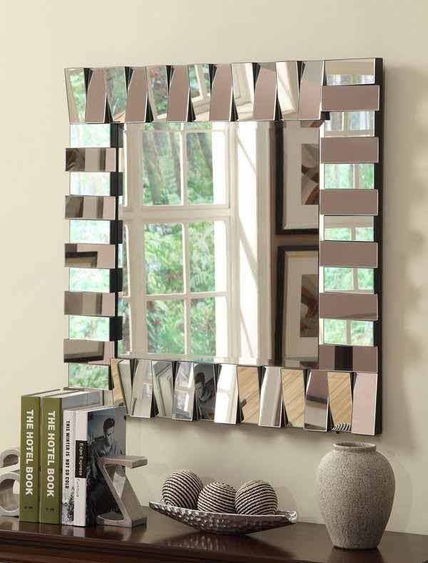 Contemporary Square Mirror 901806 Mirrors Mirror Wall Bedroom Mirror Decor Mirror Wall