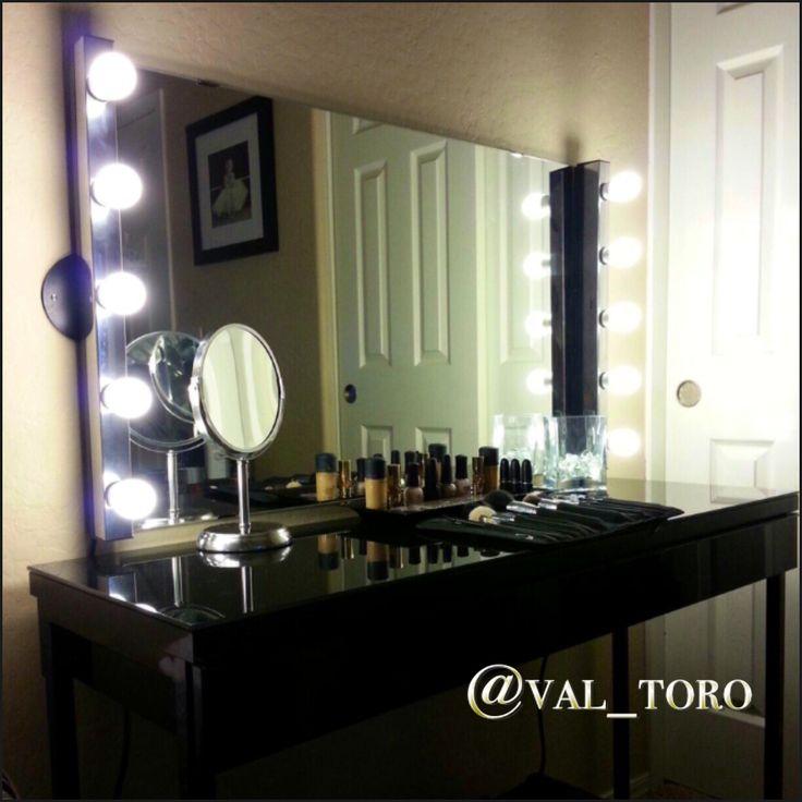25 best mirrored vanity table ideas on pinterest white makeup vanity makeup vanity tables - Diy mirrored vanity table ...