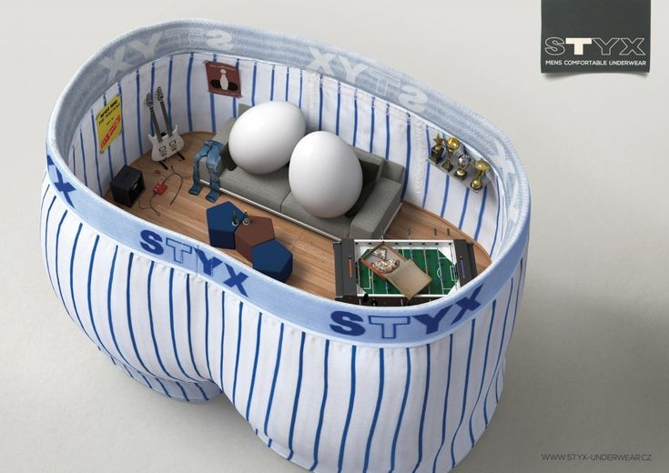 Styx Underwear: Living Room | http://www.gutewerbung.net/styx-underwear-living-room/ #Advertising