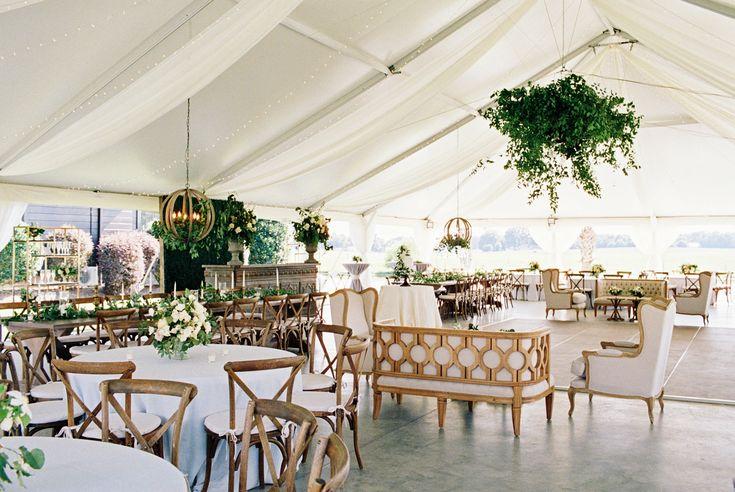 Read More: https://www.stylemepretty.com/2018/02/19/elegant-tented-wedding-north-carolina/