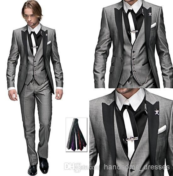 Latest Design One Button Peak Black Lapel Light Groom Tuxedos | Buy Wholesale On Line Direct from China