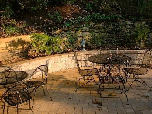 Backyard Patio And Retaining Wall In The Washington DC Area