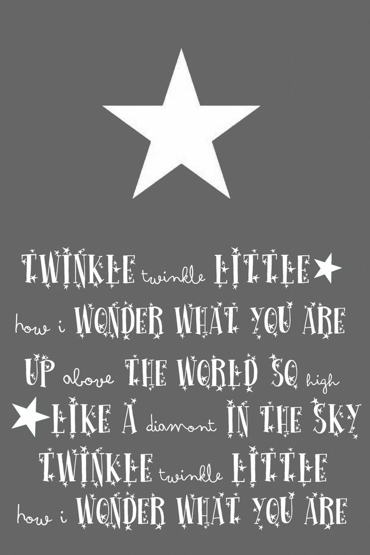 "..twinkle twinkle little star card // Would be so cute framed on a baby's wall. Love the ""diamont."""