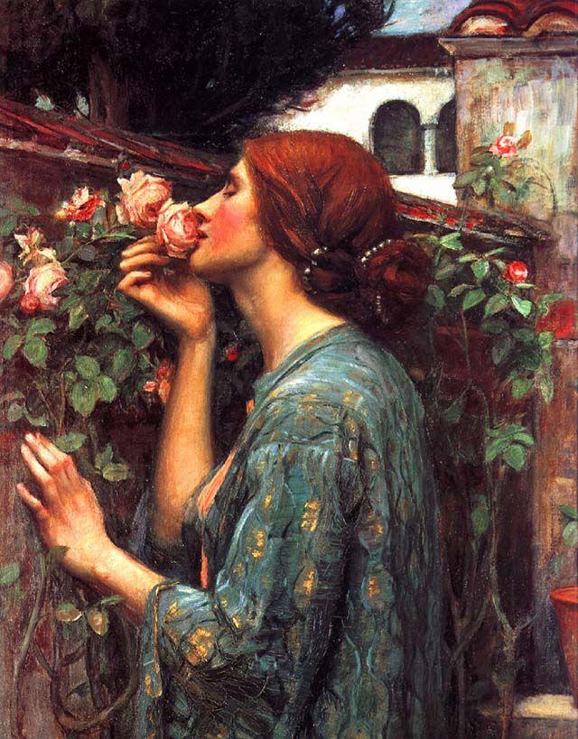 j w waterhouse - My Sweet Rose