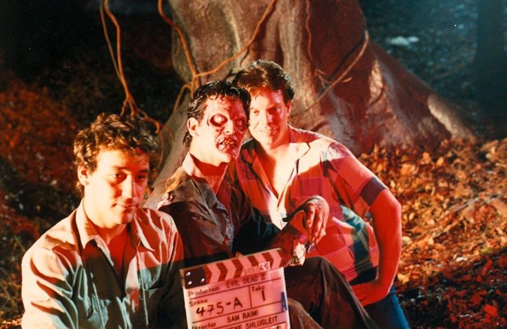 Sam Raimi, Bruce Campbell and Robert Tapert on the...