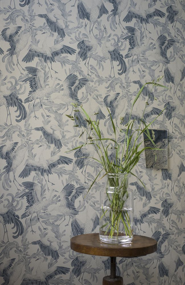 Here it is again..Dancing Cranes by Emma von Bromssen for Eco Wallpaper.