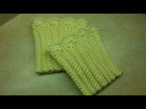 #Crochet Quick and Easy Boot Cuffs #TUTORIAL DIY Homemade How to crochet boot cuffs - YouTube